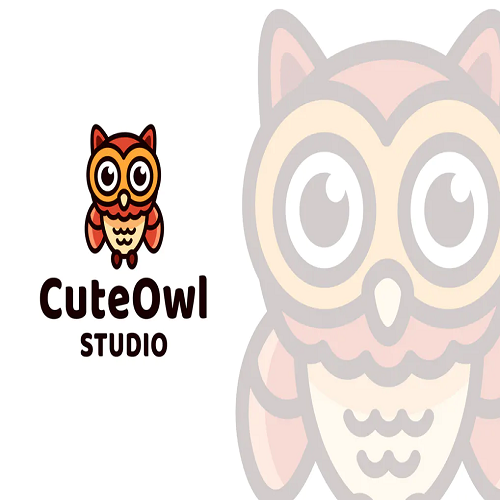 Cute Owl Logo Template