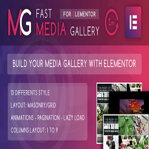 Fast Media Gallery For Elementor WordPress Plugin