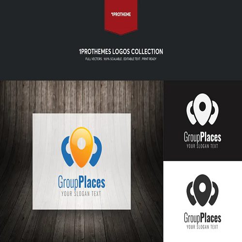 Group Places Logo Template