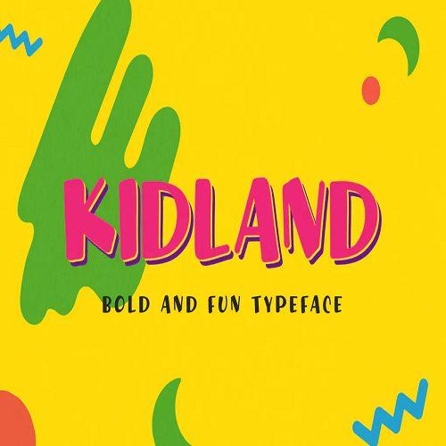 Kidland Bold And Fun Typeface