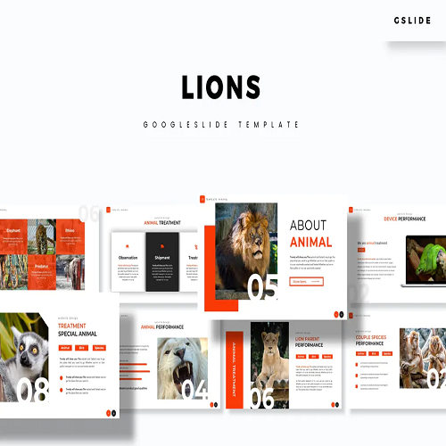 Lions Google Slides Template