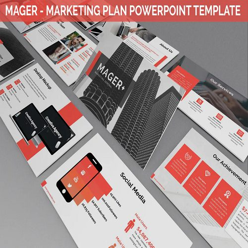 Mager Marketing Plan Powerpoint Template