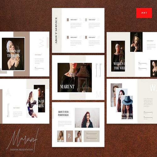 Marunt Luxury Fashion Powerpoint Template