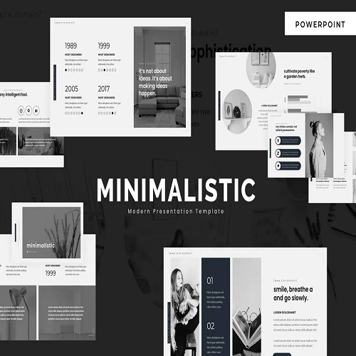 Minimalistic Powerpoint Template