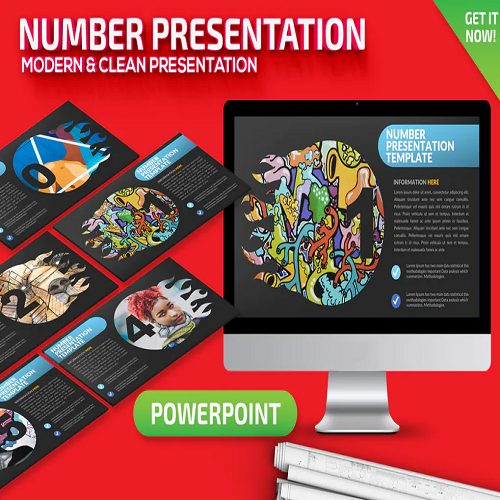 Number Powerpoint Presentation Template