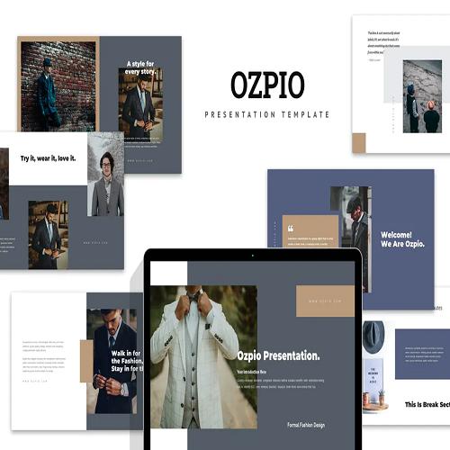 Ozpio Gentlemens Suits Lookbook Powerpoint
