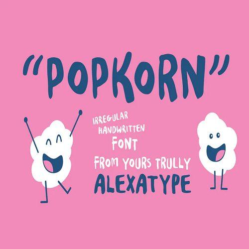 POPKORN Funky Marker Font