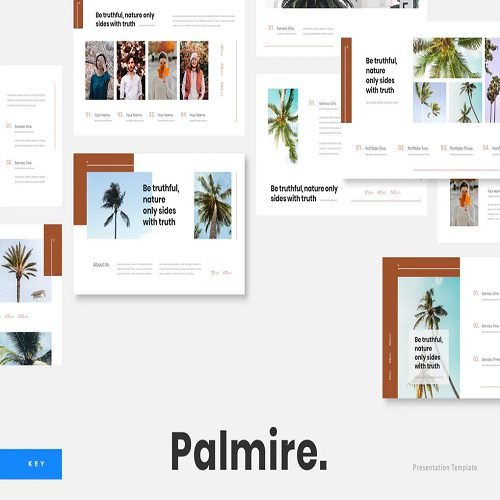 Palmire Exotic Plant Keynote Template