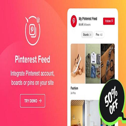Pinterest Feed WordPress Pinterest plugin