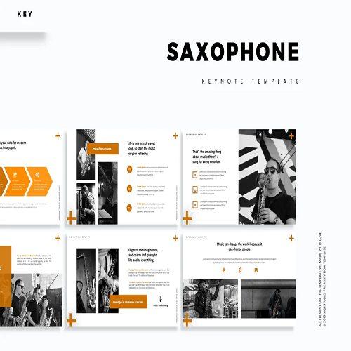 Saxophone Keynote Template