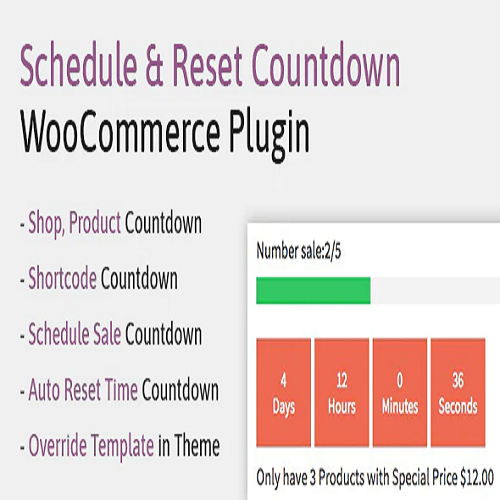 Schedule Reset Countdown Plugin WooCommerce