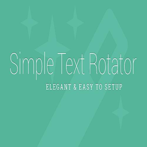 Simple Text Rotator WordPress Plugin