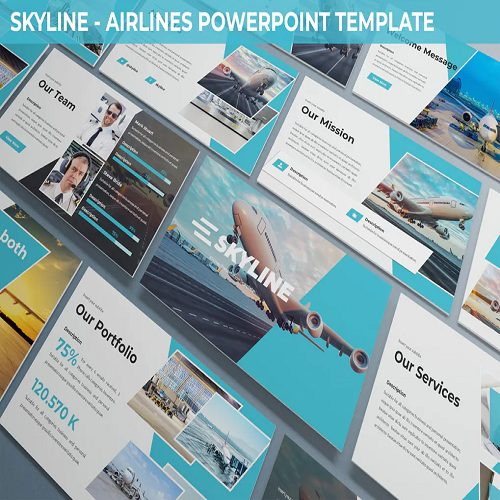 Skylines Airlines Powerpoint Template