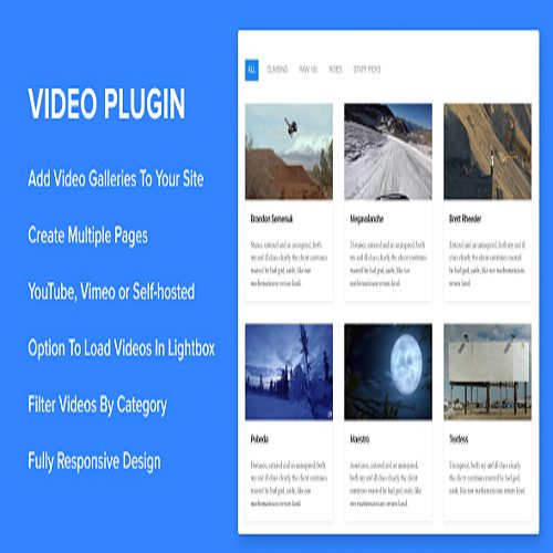 Sortable Video Embed WordPress Plugin