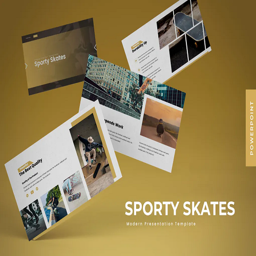 Sporty Skate Powerpoint Template