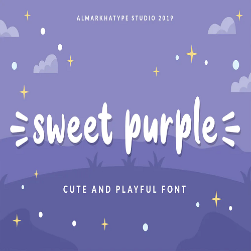 Sweet Purple fun font