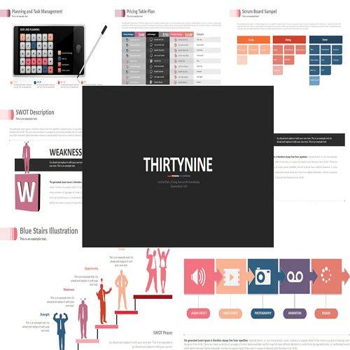 Three Nine Powerpoint Template