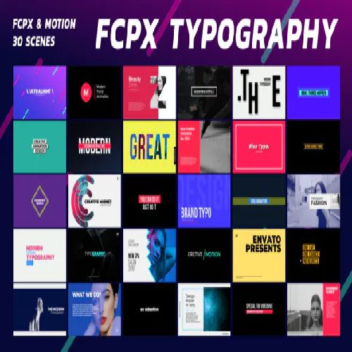 Typography PRO FCPX or Apple Motion