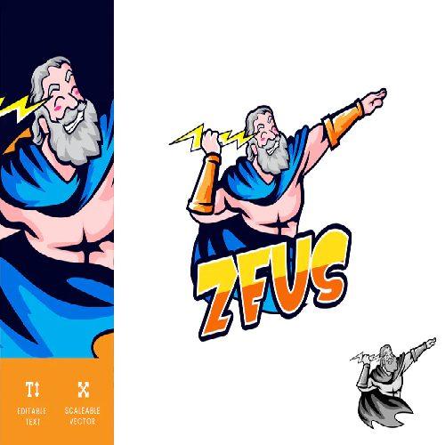 Zeus Gaming Logo Illustration Vector