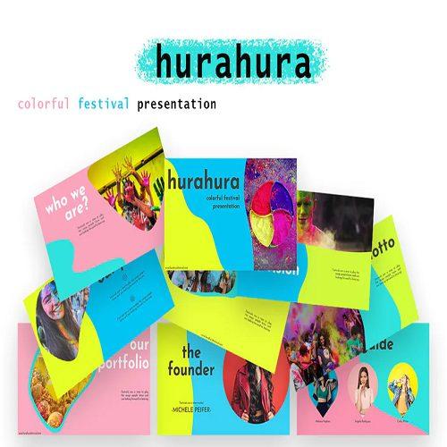 hurahura colorful PowerPoint Presentation