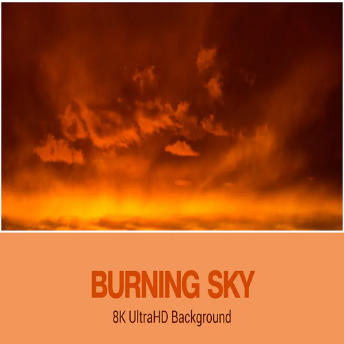 8K UltraHD Burning Sky Background