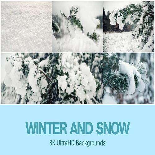8K UltraHD Winter Theme Backgrounds Set