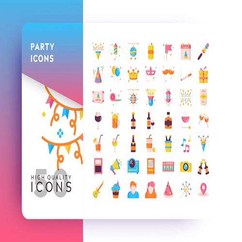 AWR PARTY FLAT ICON