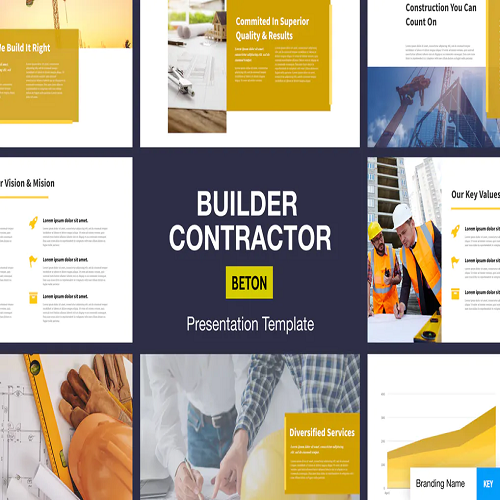 Beton Builder Contractor Presentation Template