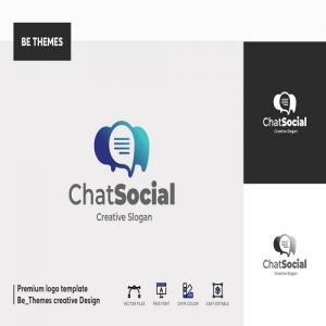 Chat Social Logo Template