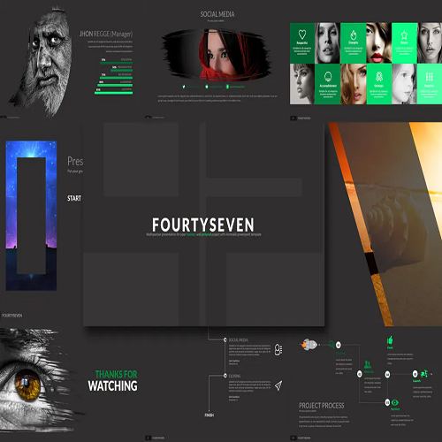 Fourty 7 Powerpoint Template