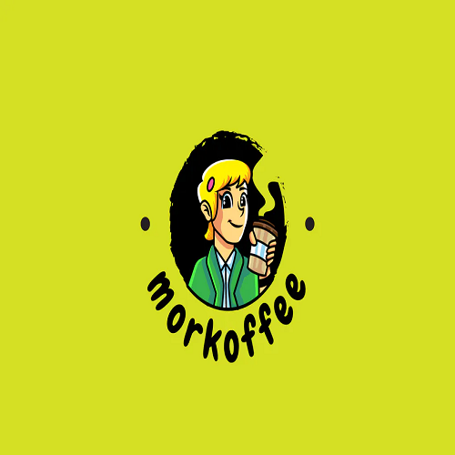 More Coffee Mascot Logo