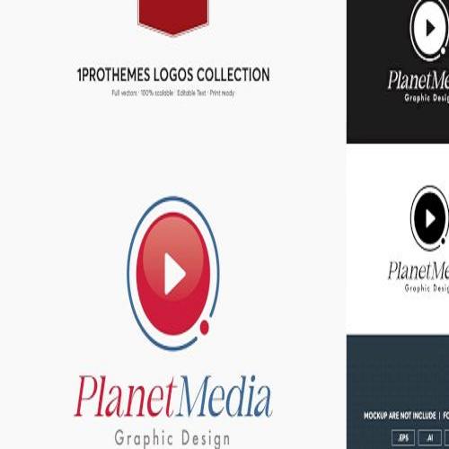 Planet Meida Logo Template