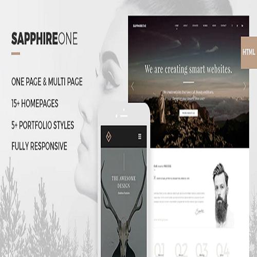 Sapphire One Multi purpose Bootstrap HTML5