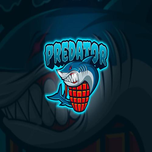 Shark Predator Mascot Esport Logo