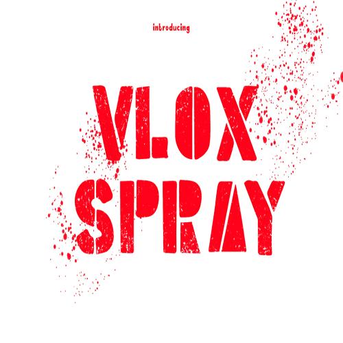 Vlox Spray Hand Drawn Typeface