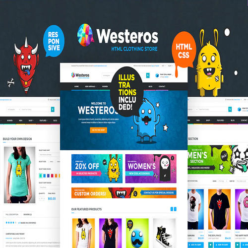 Westeros Clothing Market and Shop HTML Template