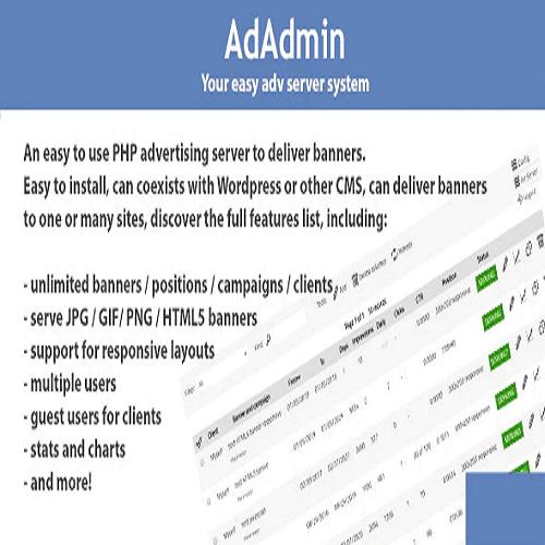 AdAdmin Easy adv server adversting platform