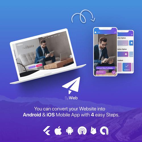 FlyWeb for Web to App Convertor Flutter Admin Panel