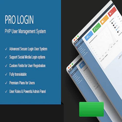 Pro Login Advanced Secure PHP User Management System