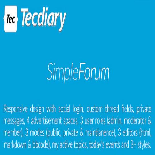 Simple Forum Responsive Bulletin Board