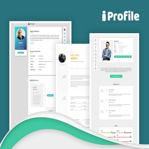 iProfile Multiuser Profile Resume Script SASS