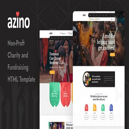 Azino Nonprofit Charity HTML Template