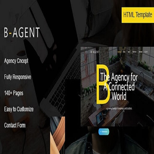 B Agent Agency HTML Template