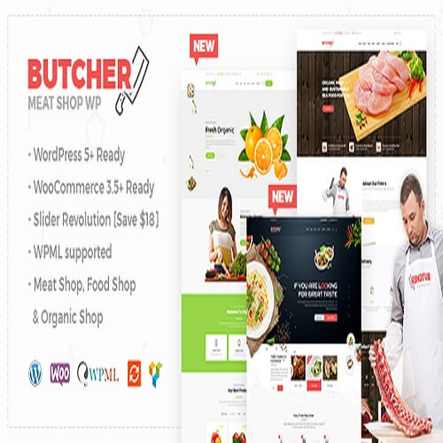 Butcher Meat Shop WooCommerce WordPress Theme