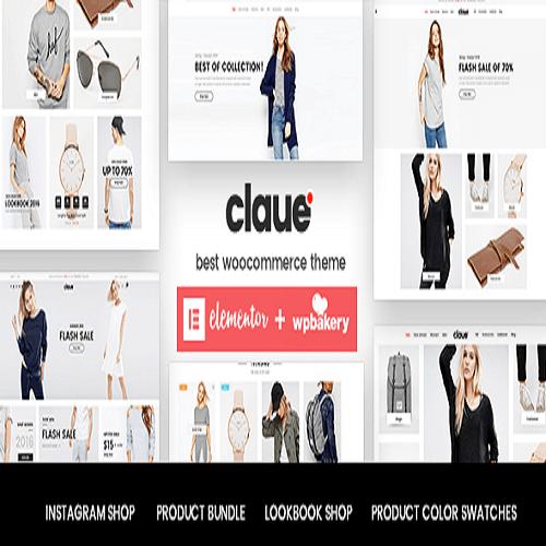 Claue Clean Minimal Elementor WooCommerce Theme