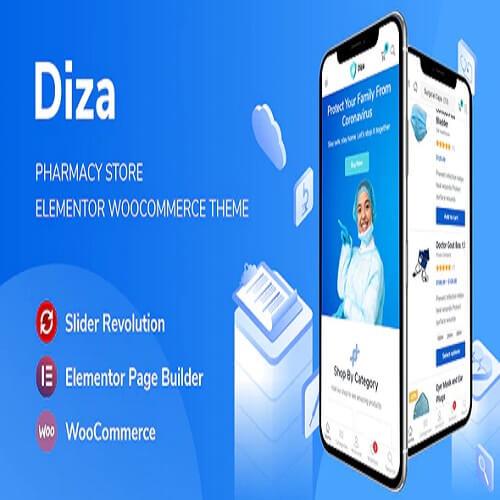 Diza Pharmacy Store Elementor WooCommerce Theme