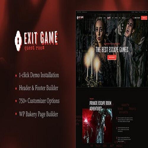 Exit Game Real Life Secret Escape Room WordPress Theme