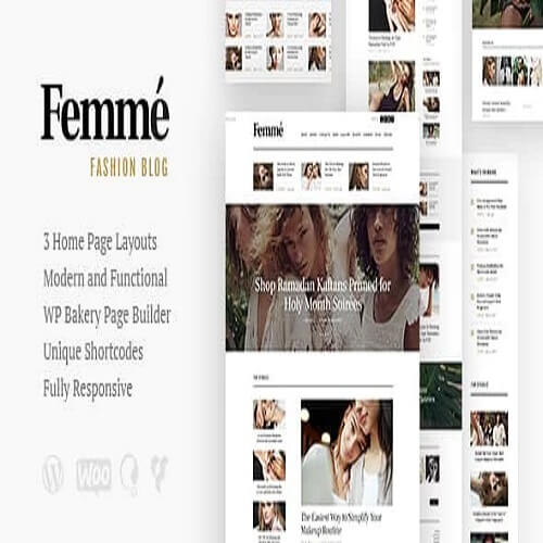 Femme An Online Magazine Fashion Blog WordPress Theme