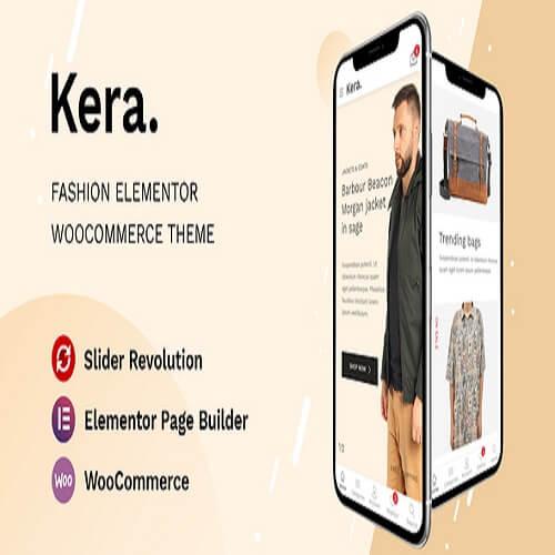 Kera Fashion Elementor WooCommerce Theme