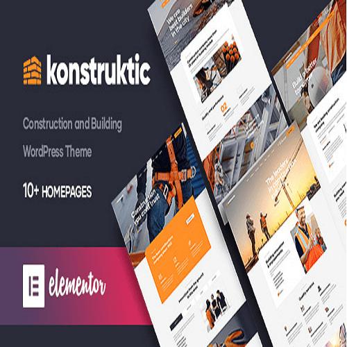 Konstruktic Construction Building WordPress Theme